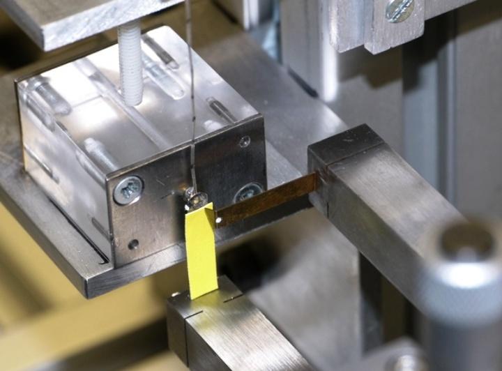 Aufbau für die Laservermessung eines Aktors