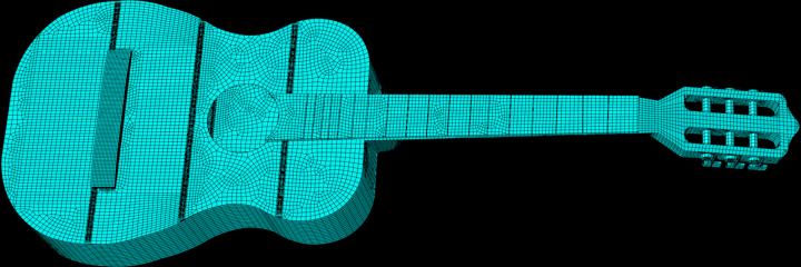 Die Gitarre als Beispiel für ein System mit Fluid-Struktur Interaktion [BrauchlerEtAl19]