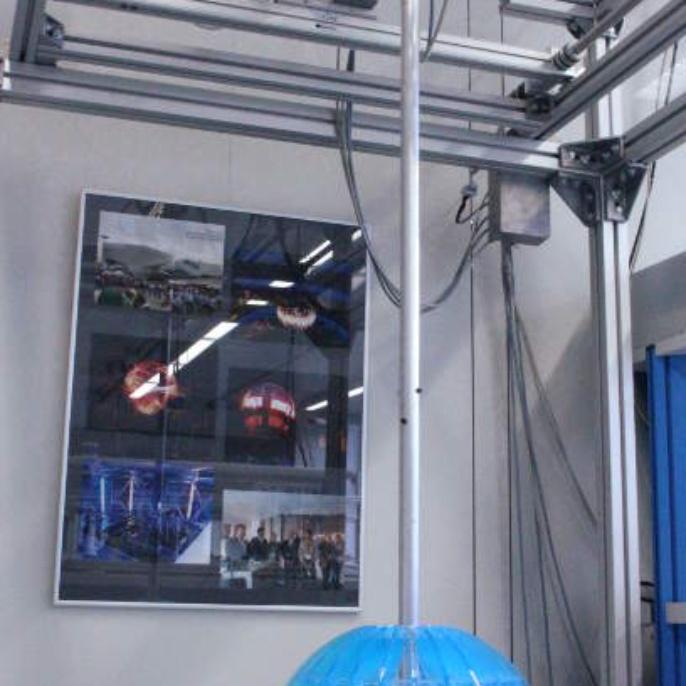 Modell des interaktiven Pendels für den Deutschen Pavillon auf der Weltausstellung EXPO 2010 Shanghai China