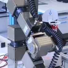 Roboter mit Basketballkorbfangvorrichtung