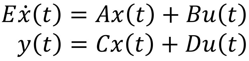 Formel Exdot(t)=Ax(t)+Bu(t)