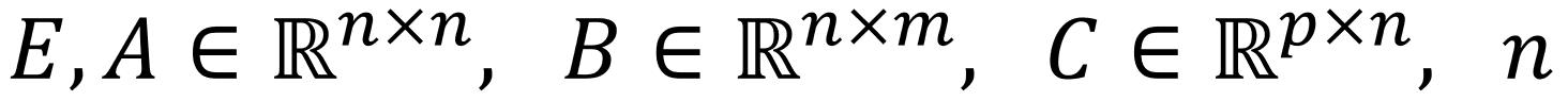 Formel E,A∈R^(n×n), B∈R^(n×m), C∈R^(p×n), n