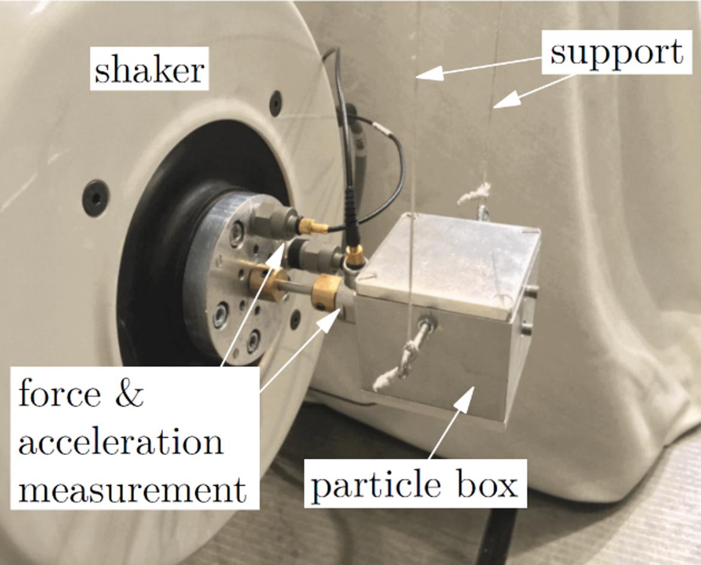 Teststand zur Ermittlung der Energiedissipation innerhalb des Partikeldämpfers